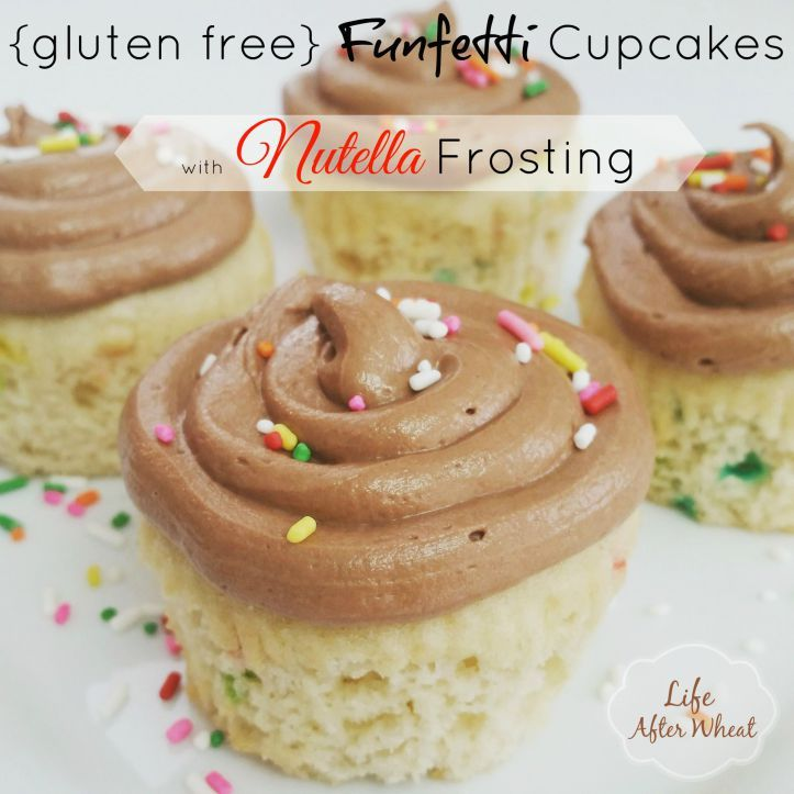 Funfetti cupcakes with nutella frosting nutella frosting