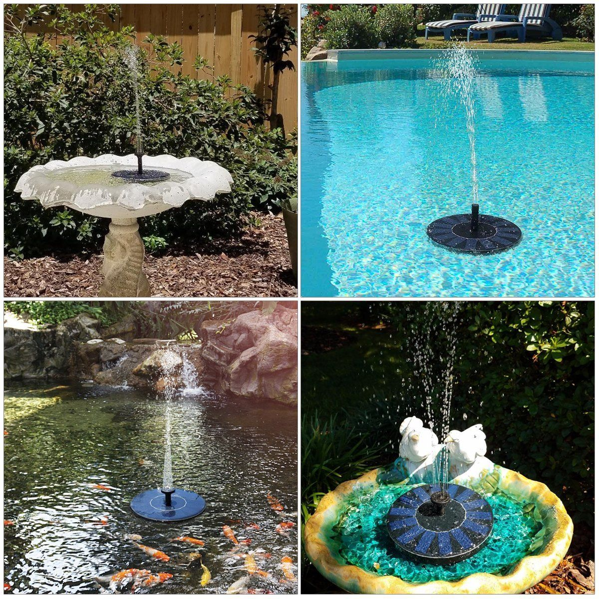 Solar Fountain Pump Feelle Solar Powered Floating Fountain Kit