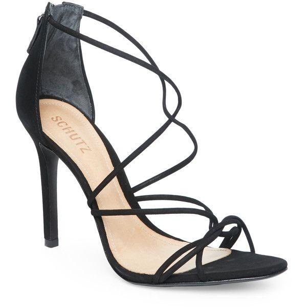 baf284aa039 Schutz Black Myrcella Strappy High Heel Sandals (€120) ❤ liked on ...
