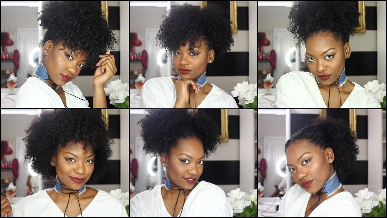 6 hairstyles on old wash n go hair quick easy easy