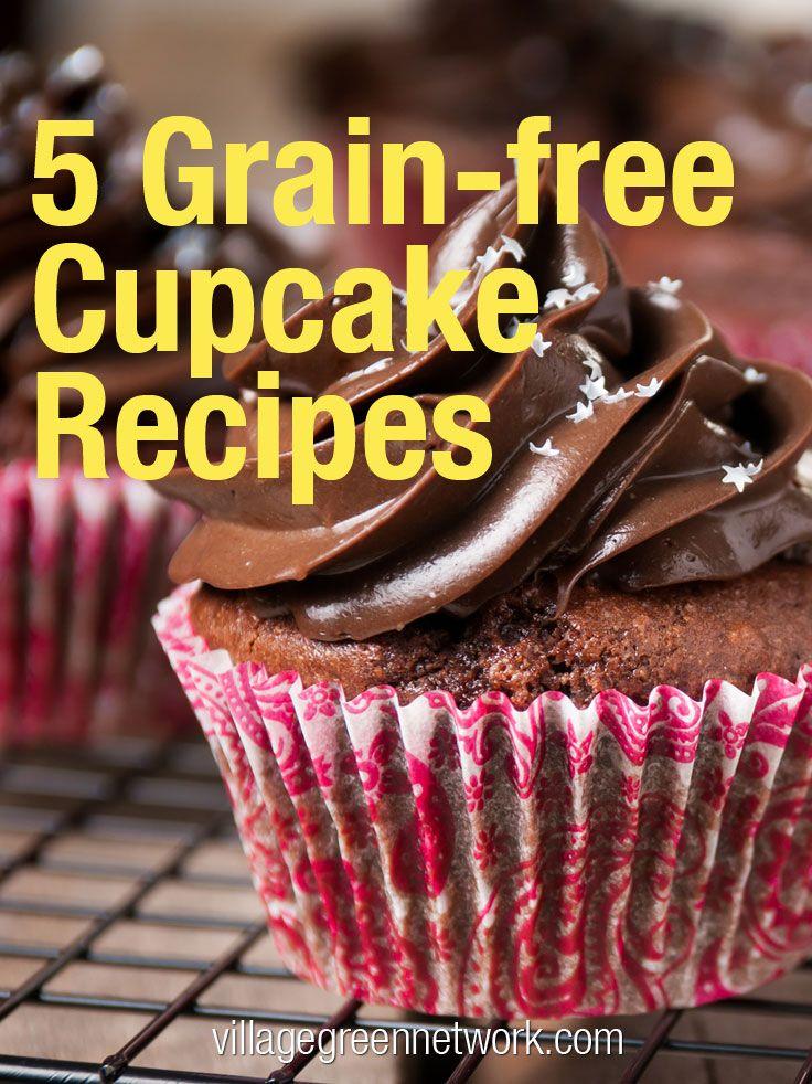 5 Grain-free Cupcake Recipes / #paleo #cupcake / http://villagegreennetwork.com/5-grain-free-cupcake-recipes/