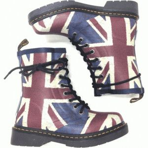 Dr Martens Drench Rubber Rain Boot In Classic Union Jack Print Thirteen Vintage