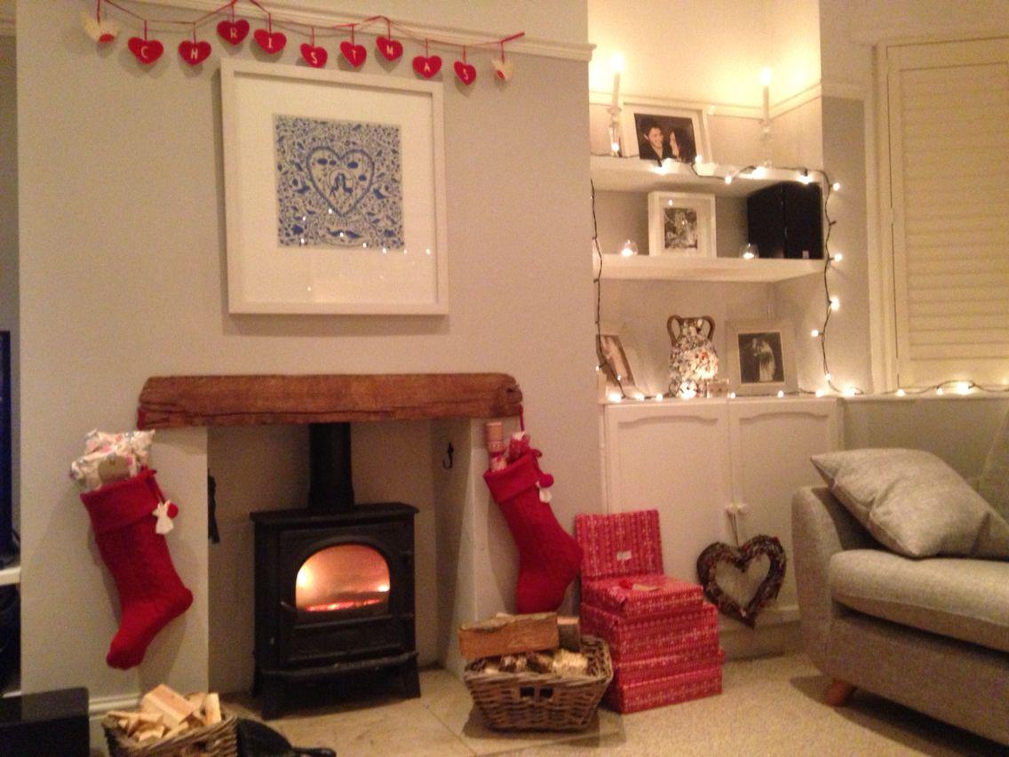 Living Room Log Burner Little Greene Paint Cottage Living