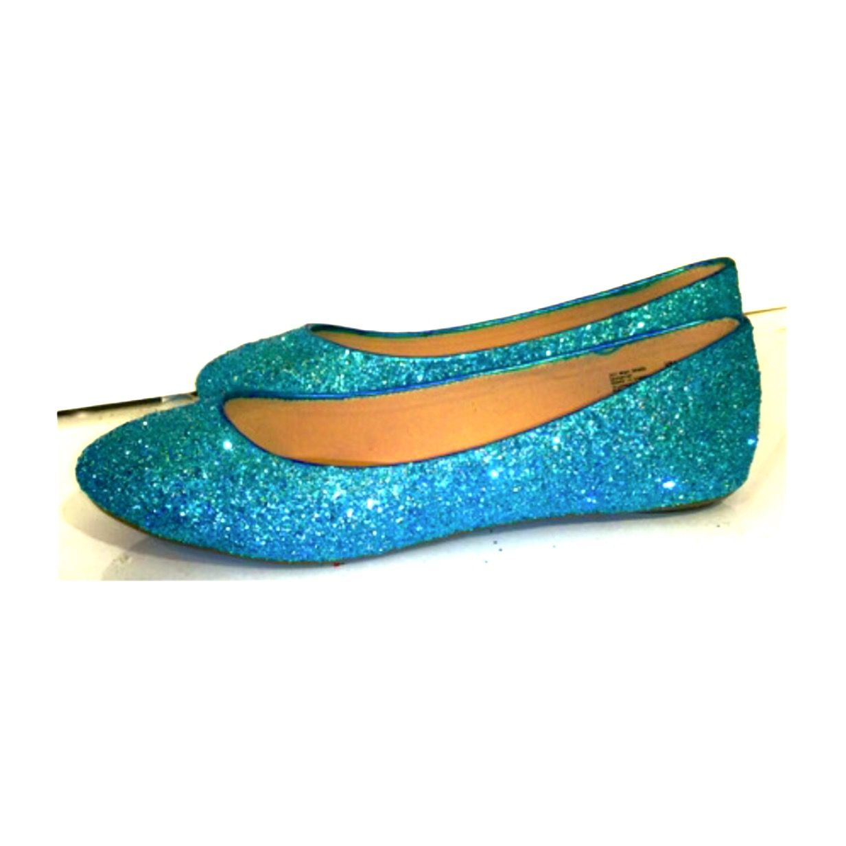 6a6e6c56e2ce SPARKLY TURQUOISE BLUE GLITTER BALLET FLATS WEDDING BRIDE PROM SHOES ...