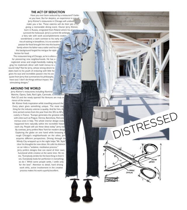 """Untitled #965"" by tamara-40 ❤ liked on Polyvore featuring Tim Holtz, Nobody Denim, Christian Dior, Yves Saint Laurent, Delpozo, denim, jeans, jacket and distresseddenim"