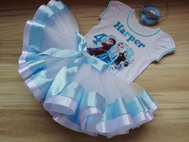 Frozen 2 Birthday Tutu Outfit Elsa and Anna Princess