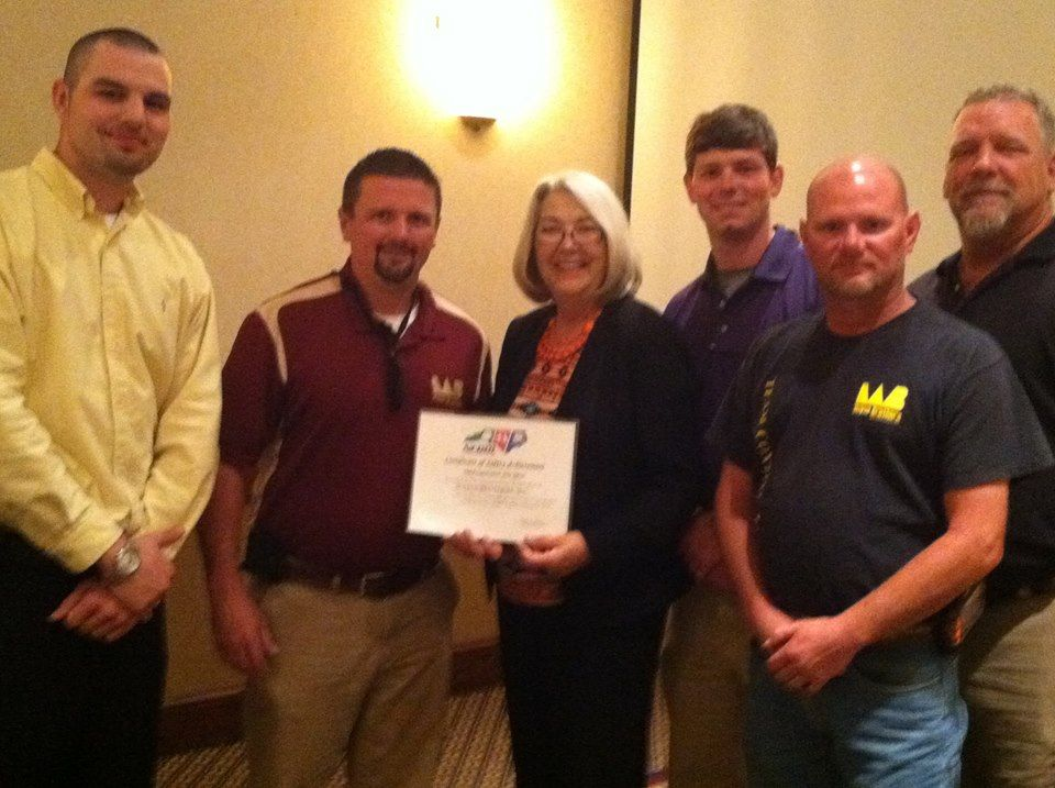 NCDOL Silver Safety Award! Wayne Brothers Inc. received an