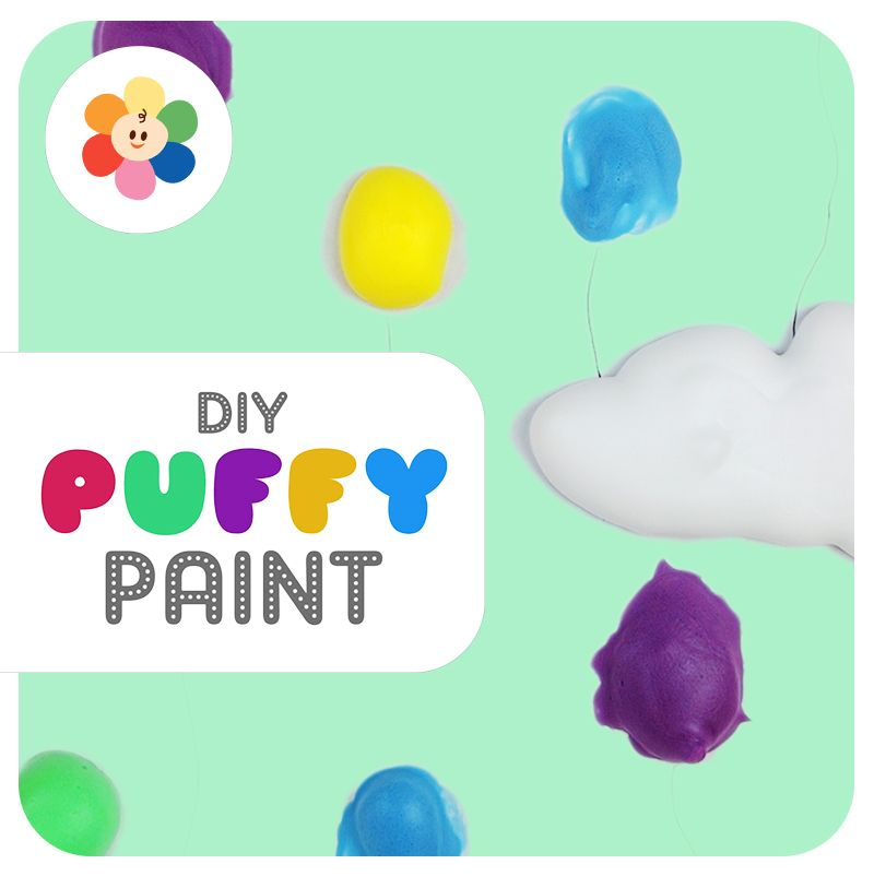 DIY Puffy Paint - A Fun and Creative Painting Technique -   19 diy projects For Boys food coloring ideas