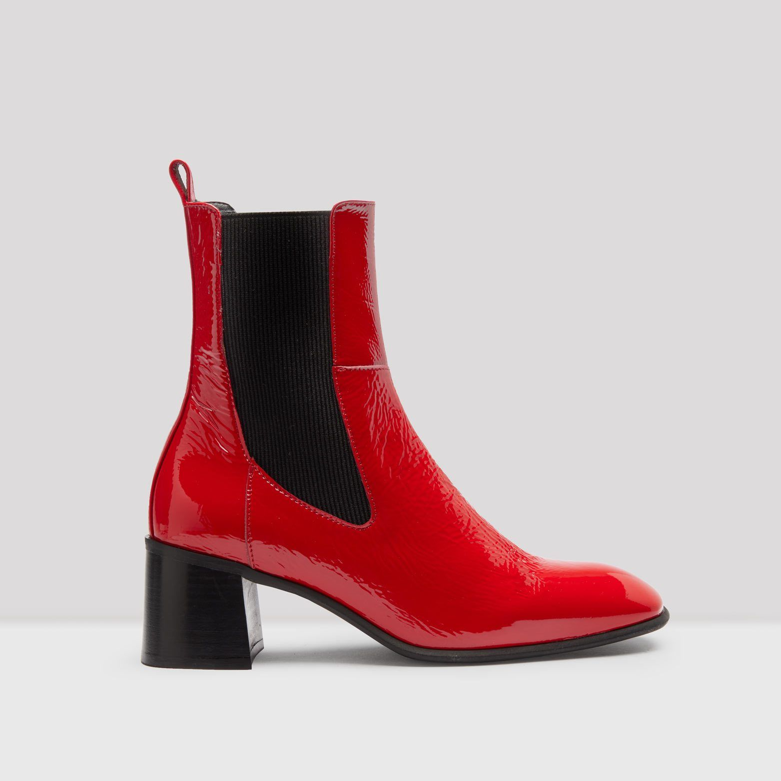 a7658df15 Tea Red Patent Leather Boots | Women's Shoes | Boots, Patent leather ...