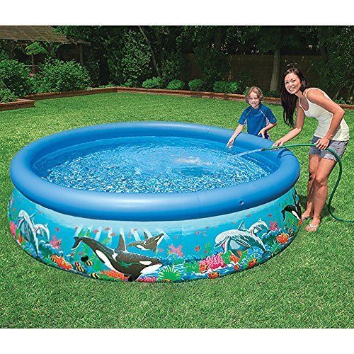 Details about intex above ground pools 10ft x 30in ocean for Above ground pool setup ideas