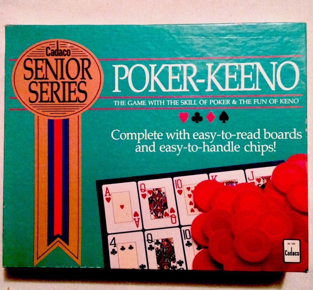Vintage Cadaco Senior Series POKER KEENO No. 940