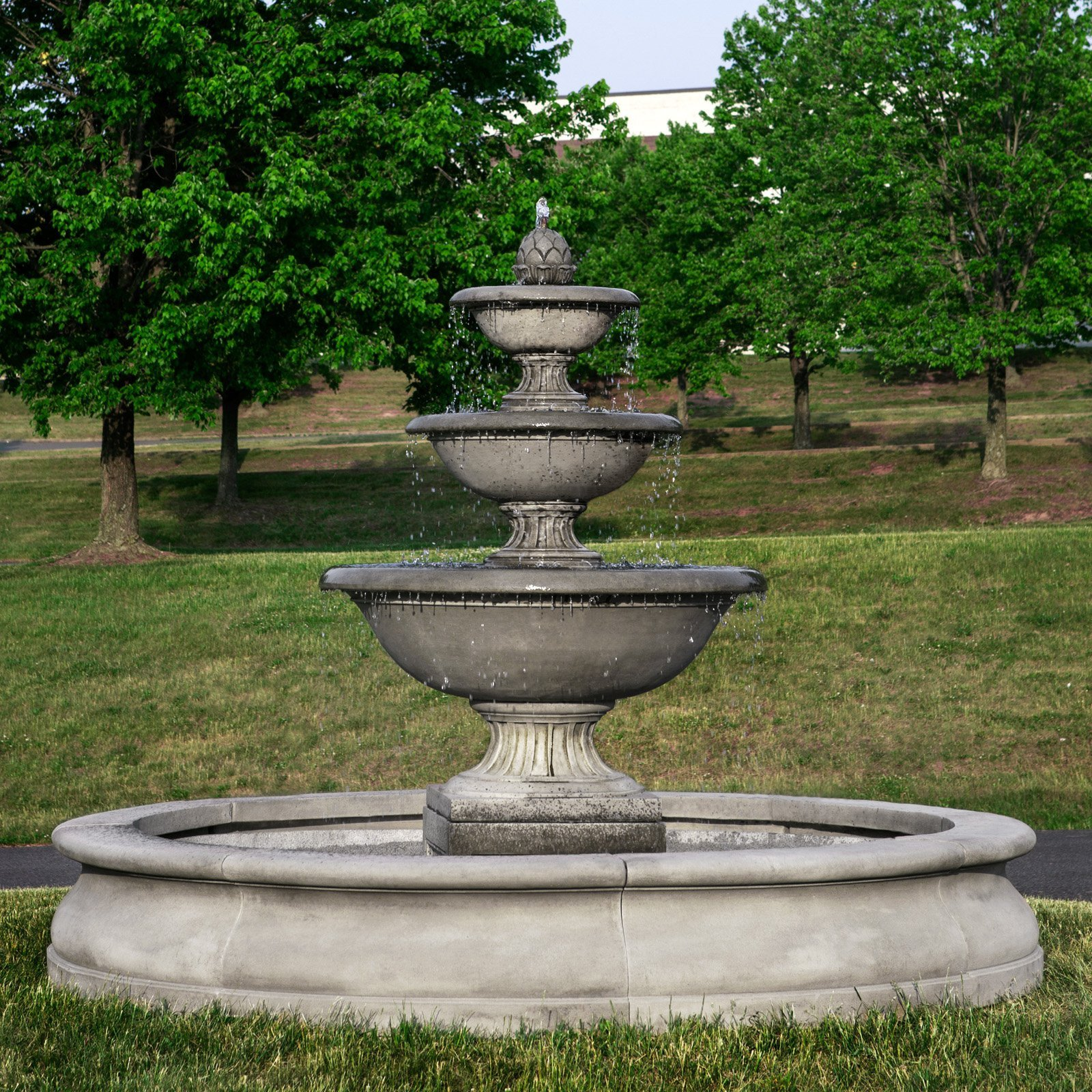 Fonthill Tiered Outdoor Water Fountain With Basin Fountains Outdoor Water Fountains Outdoor Outdoor Fountain