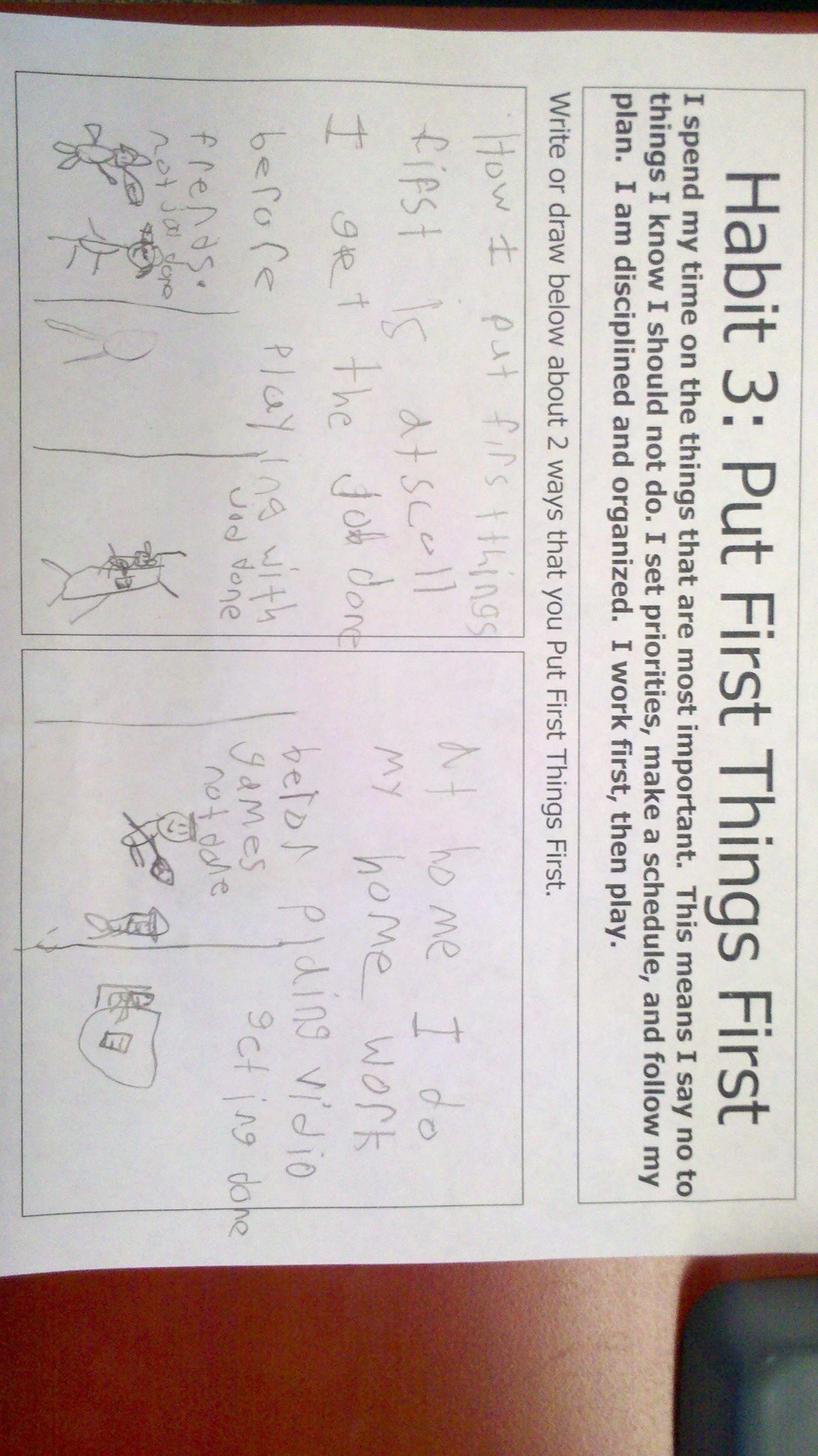 Habit 3 Work In Mrs Mccool S 3rd Grade Class