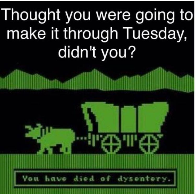 One of my favorite computer games  The Oregon Trail