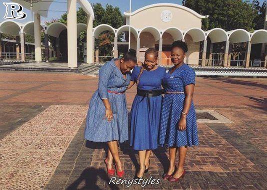 Top Shweshwe Dresses With Apron 2018