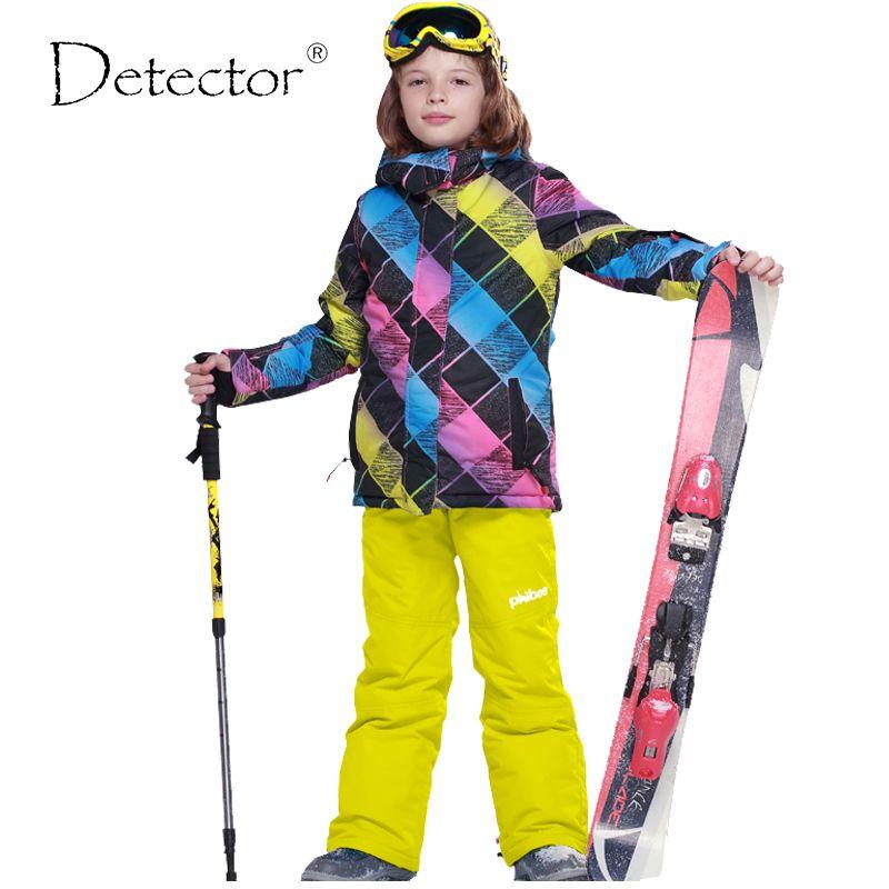 f17df8f75 Detector Boys Ski Jacket Children Waterproof Windproof Clothing Kids ...
