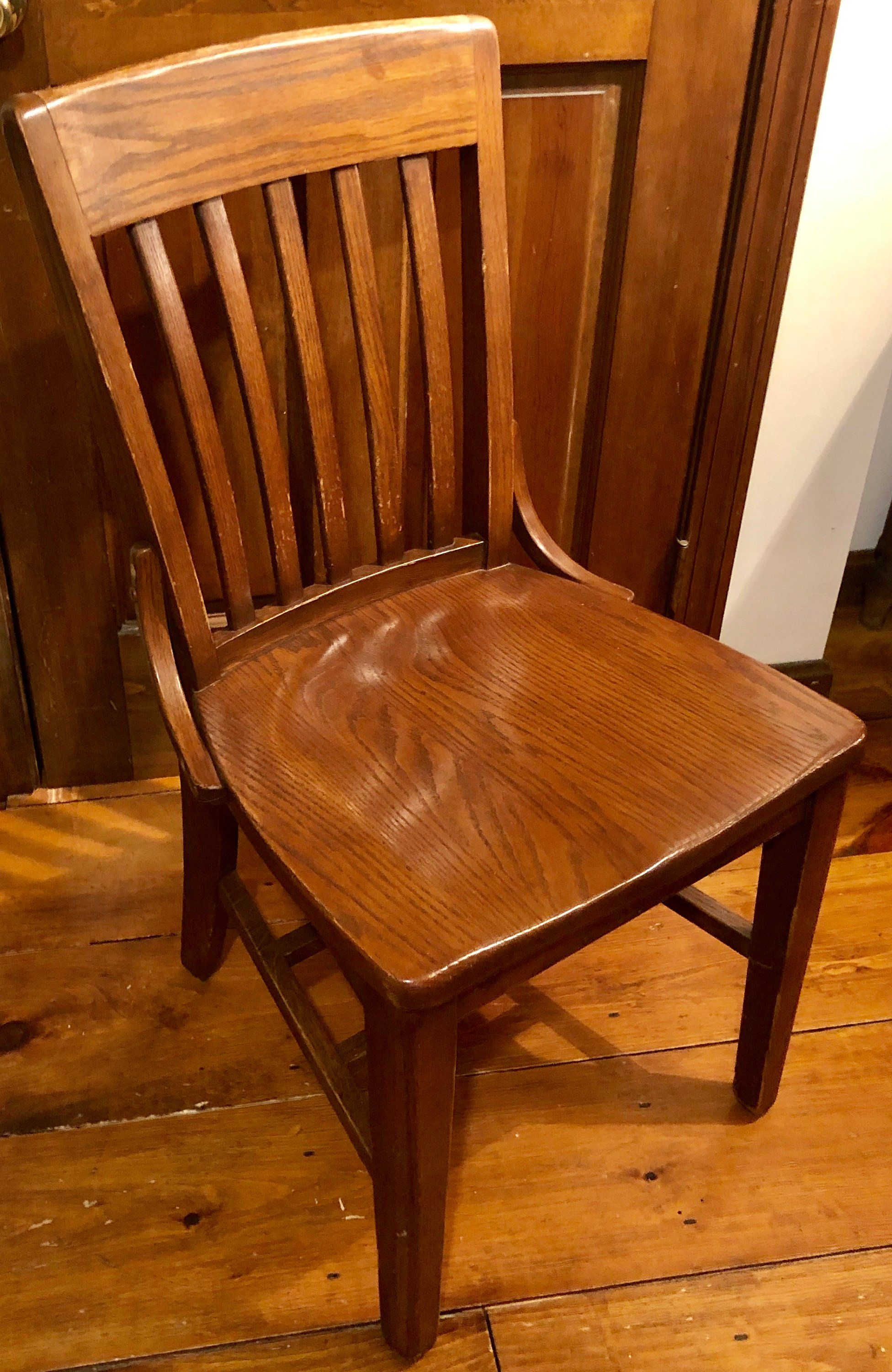Antique Mission Oak Library, Desk, Dining Chair Dining