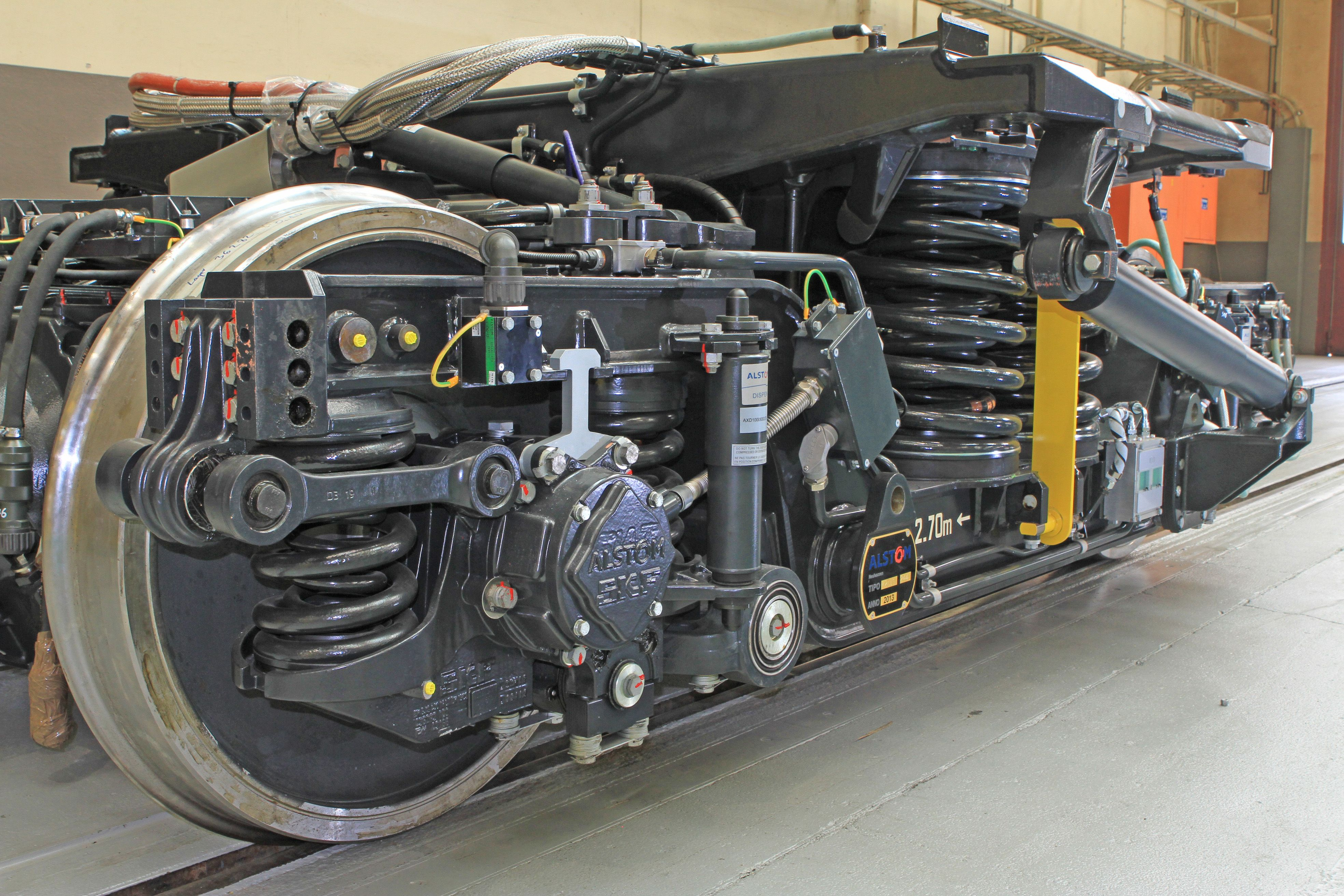 Production started for the 119 bogies of the eight Pendolino ETR 610 trains for the Swiss Federal Railways