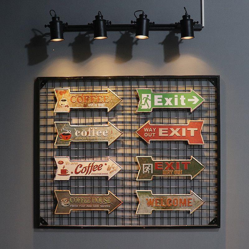 3D Vintage Plaque Bar Coffee Home Art Decor Cafe Garage Retro Plate Metal Wall