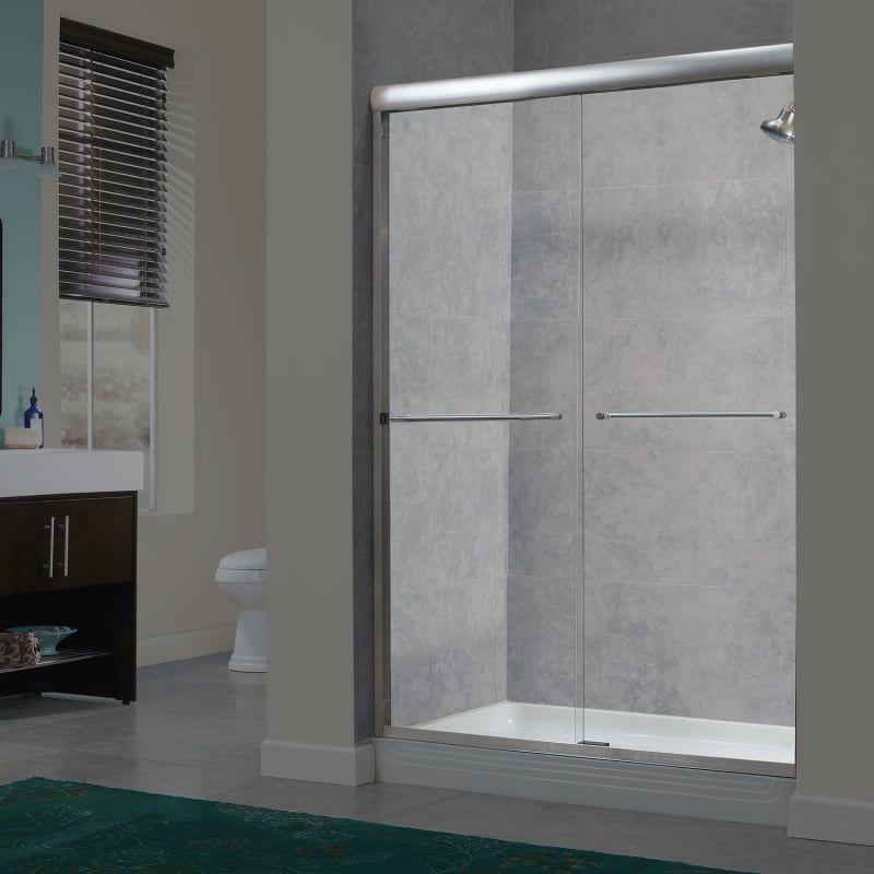 Miseno Msdc4472 Azul 72 High X 40 44 Wide Sliding Framed Shower Door With 1 4 Chrome Showers Shower Doors Shower Doors Framed Shower Door Glass Shower