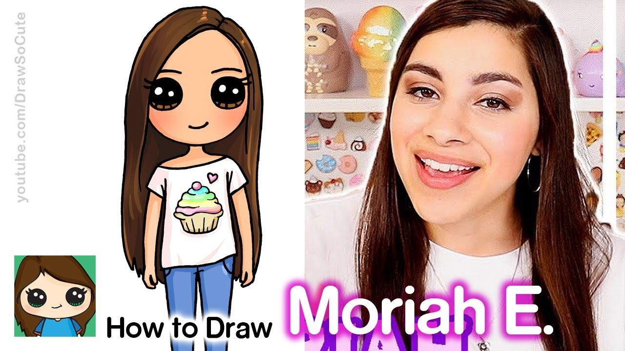 How To Draw Moriah Elizabeth Famous Youtuber Cute Drawings