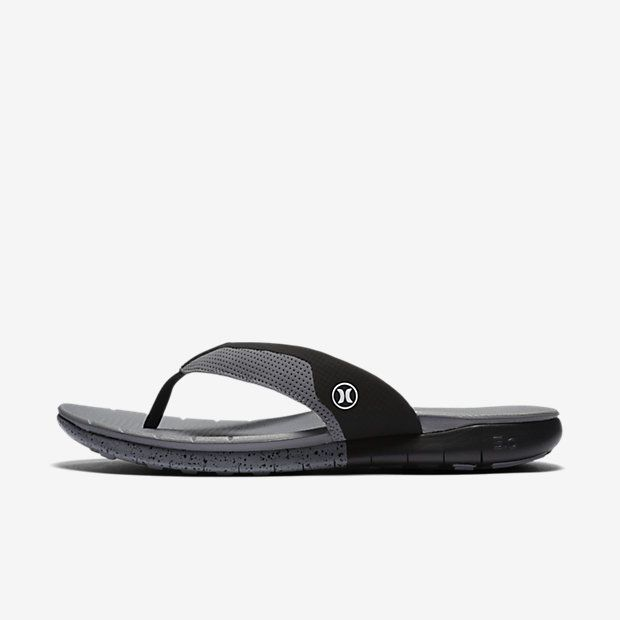 Clearance Shoes Hurley Men Fusion Rubber Sandals Blue