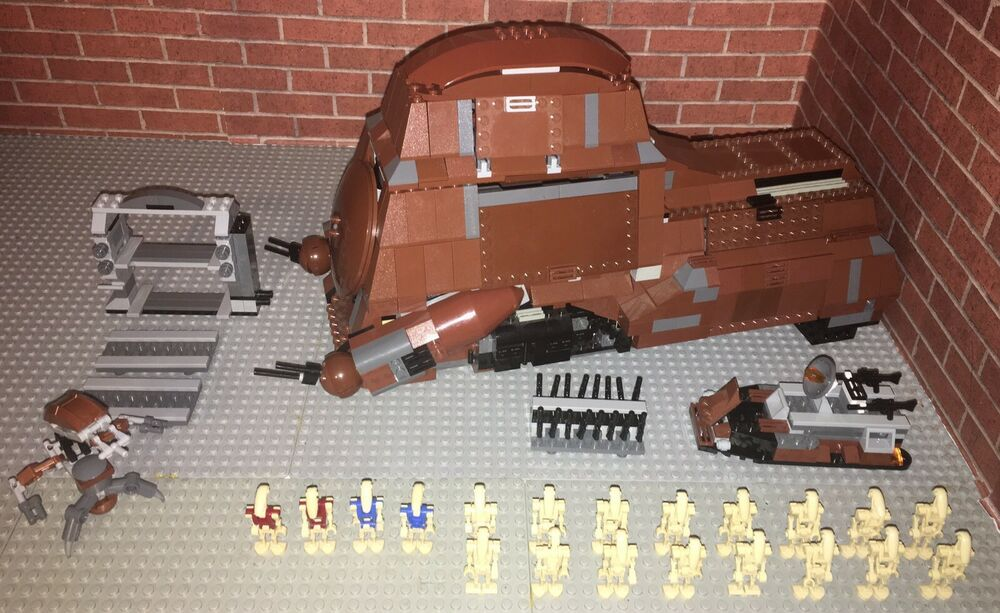 Lego 7662 Trade Federation MTT Complete Set Minifigures