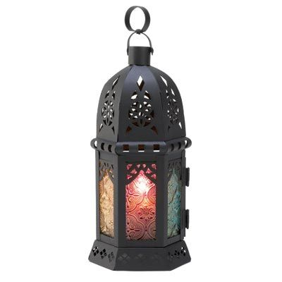 5 Blazing Clear Glass Moroccan Style Candle Lanterns NEW
