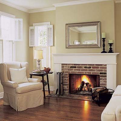 This Is A Fairly Classic, Elegant Fireplace Design. What Sets It Apart Is  The