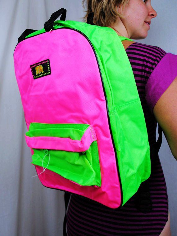 Vintage Neon Back Pack