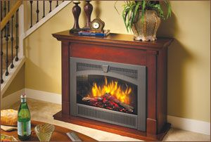 Floor Standing Electric Fireplace By Lopi Plug In And You Re Good