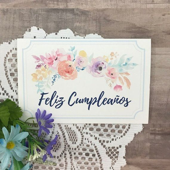 image about Spanish Birthday Cards Printable referred to as Feliz Cumpleanos Tarjeta - Printable Birthday Card within