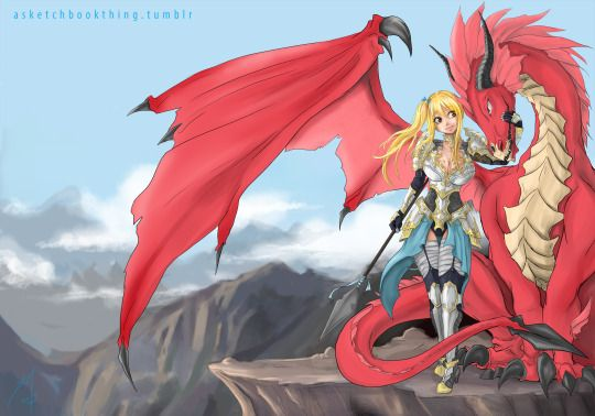 Knight rider Lucy and Dragon form Natsu in a... | Nalu ...