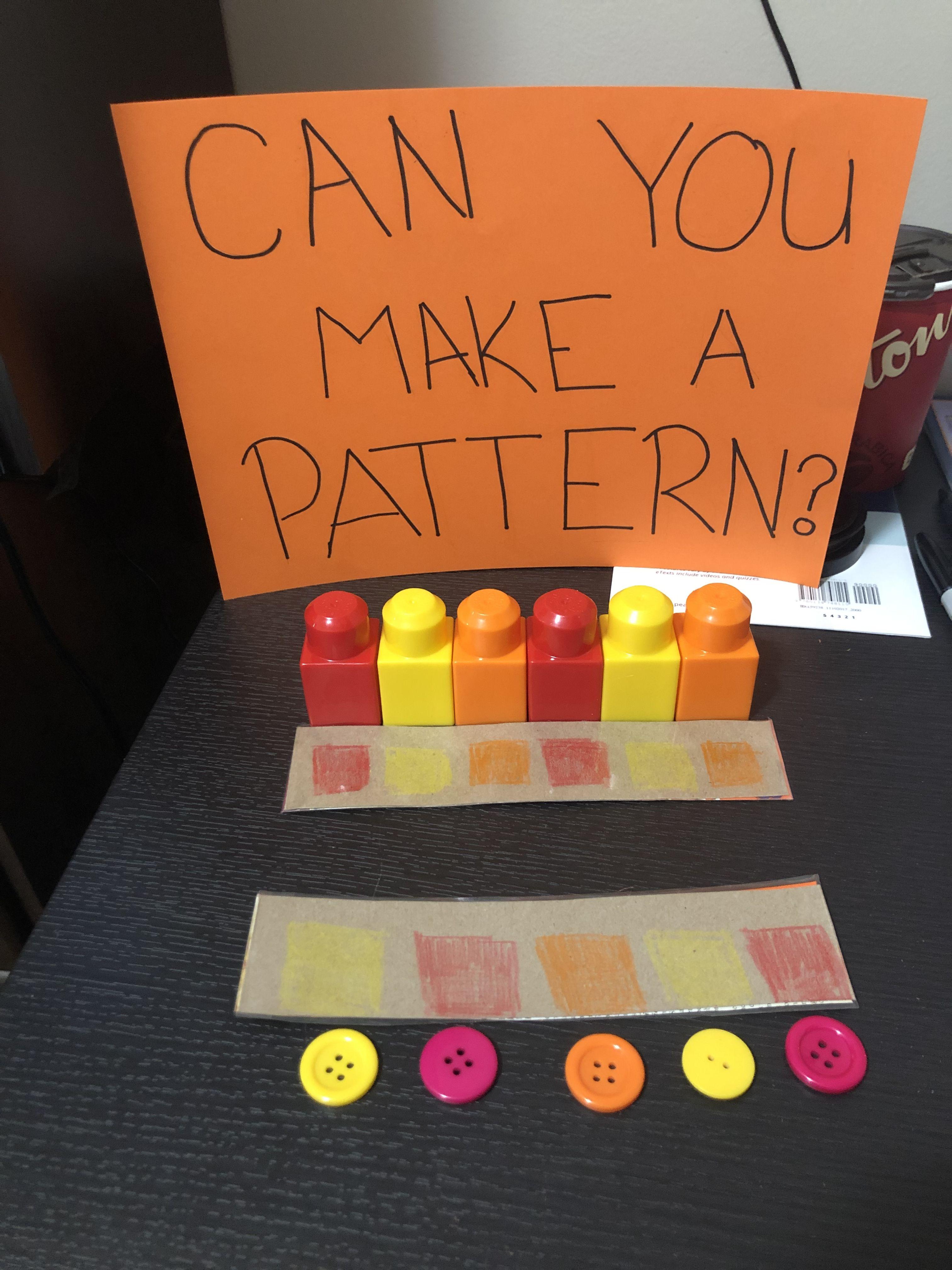 Patterning Preschool Pattern Activities Kindergarten Math Patterns Creative Curriculum Preschool [ 4032 x 3024 Pixel ]