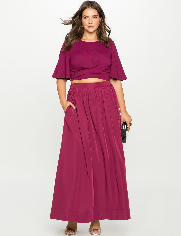 Taffeta Ball Gown Maxi Skirt | Women\'s Plus Size Skirts | Emma ...