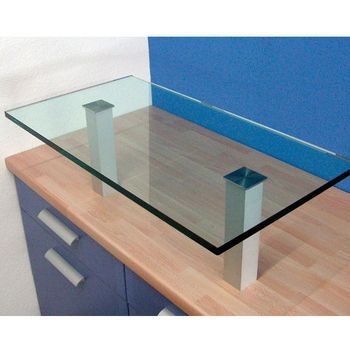 Raised Countertop Bar Supports For Glass Tops Made Out Of Steel