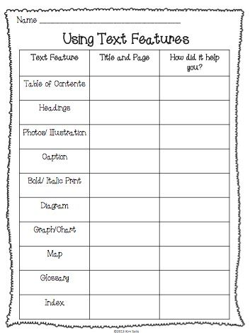 Non-Fiction Text Features Study {plus a few freebies ...