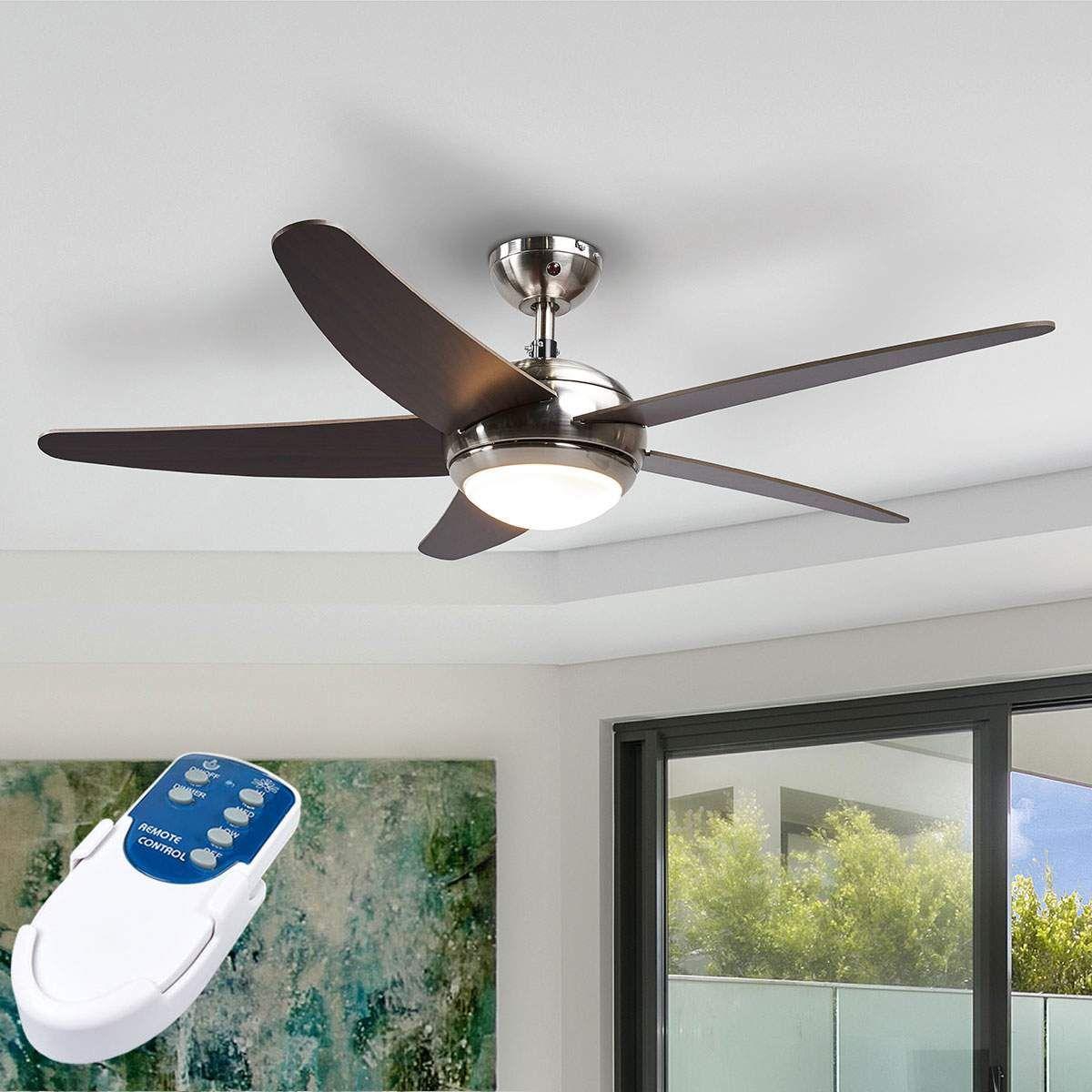 Led Betriebener Deckenventilator Anneka Mit Licht Deckenventilator Ventilator Und Ventilator Mit Licht