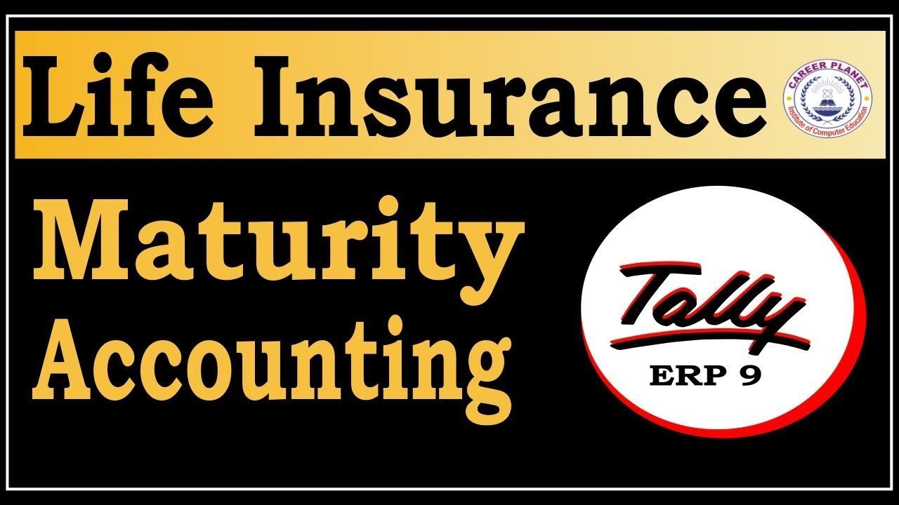 Life Insurance Maturity Accounting Entry In Tally Erp 9 Lic