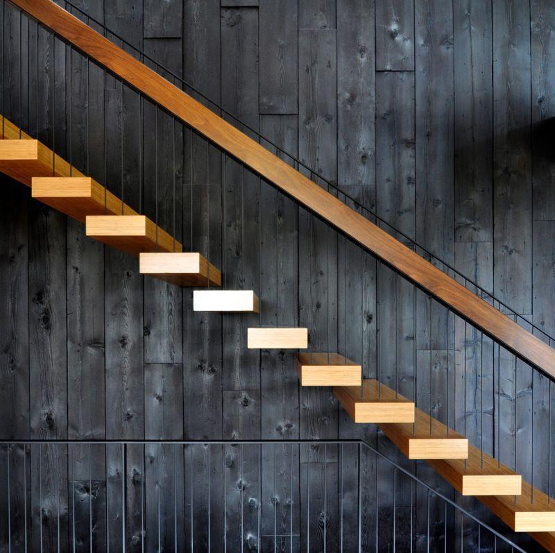 Shou Sugi Ban Holz Verkohltes Holz Treppe