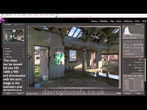 Adding a Lighting Effect in Lightroom 5 - YouTube