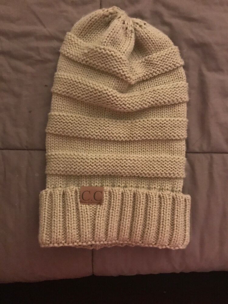 a89329ef14c Adult CC Beanie Hat Tan Crochet Knit  fashion  clothing  shoes  accessories   womensaccessories  hats (ebay link)