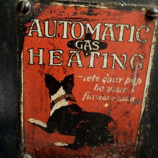 On An Old Furnace Vintage Advertisements Vintage Signs Old Signs