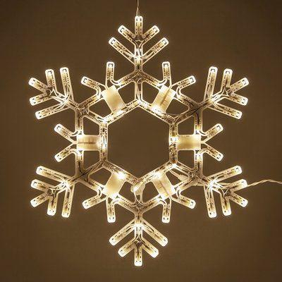 Kringle Traditions Led Folding Snowflake Lighted Display