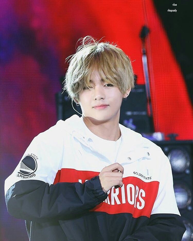 Taehyung Long Blonde Hair