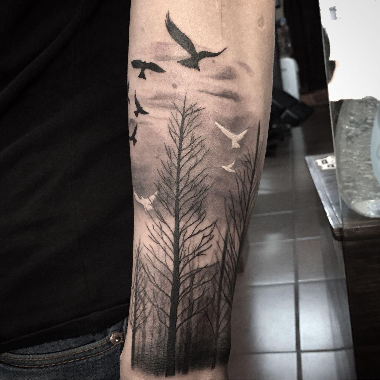 Arboles Tattoo Tatuajes Forestales Tatuajes Impresionantes