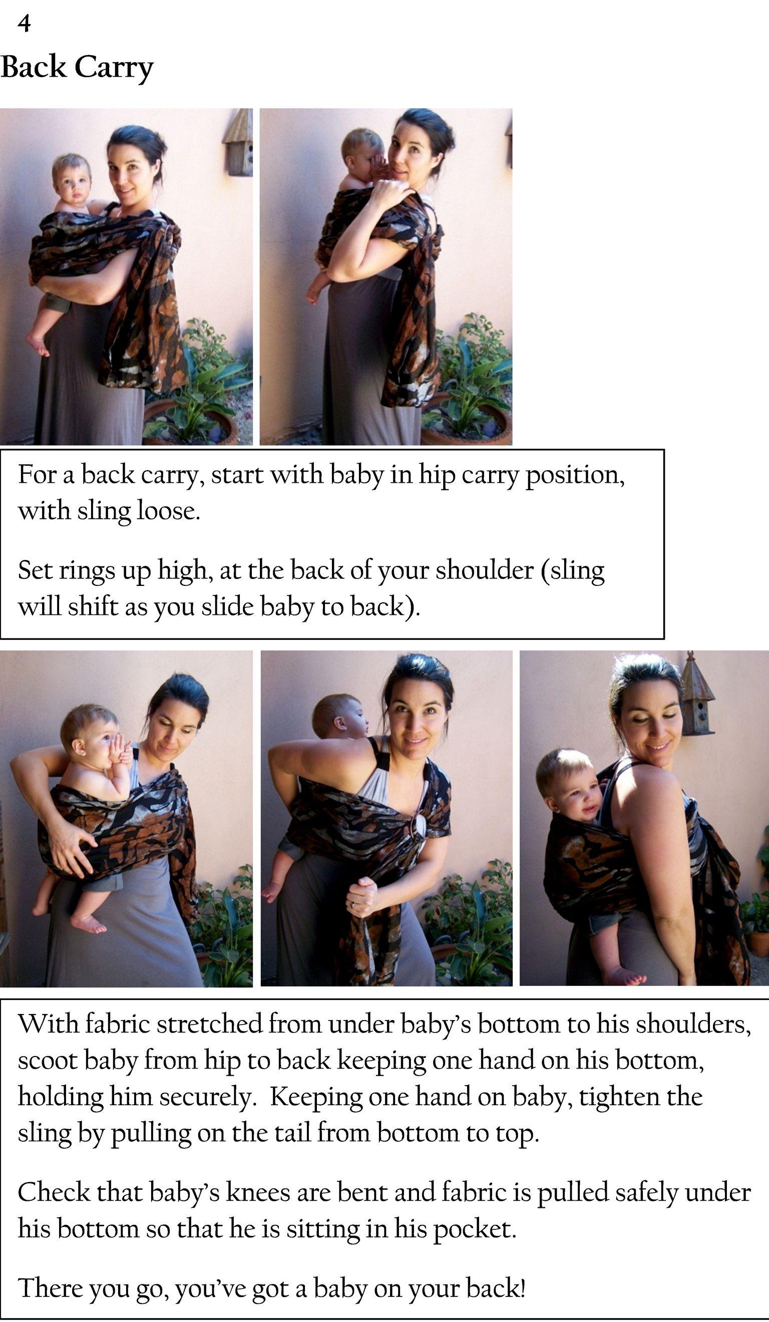 Back Carry Baby Bug Ring Sling Babywearing