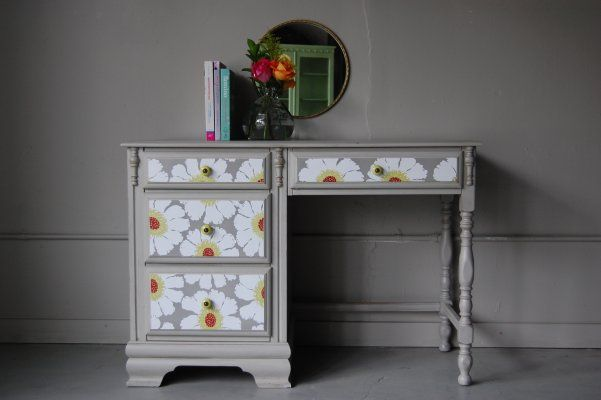 Upcycled & Repurposed Desks - LOVE this one, and similar to my desk that I could redo.