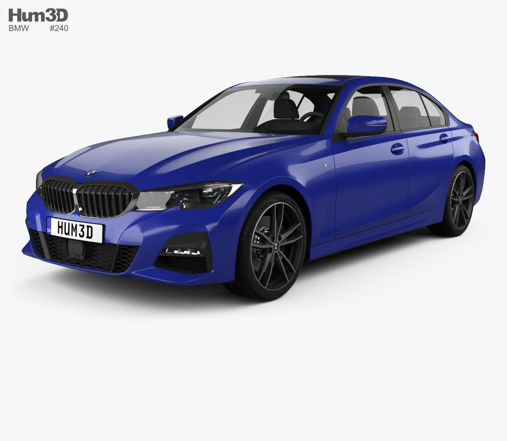 Bmw 3 Series G20 M Sport Sedan 2019 3d Model From Hum3d Com Bmw Car 3d Model Sports Sedan