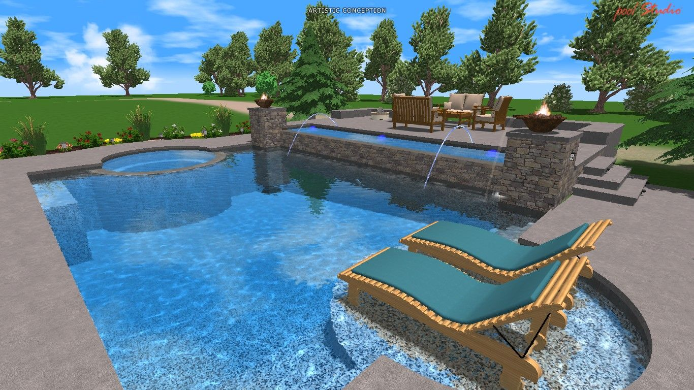 17 best images about swimming pools on pinterest swimming pool tiles swimming and backyards gunite - Gunite Pool Design Ideas